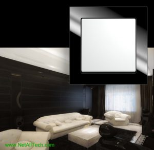 luxury viko crystal wall switches black