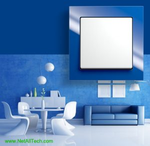 luxury viko crystal wall switches blue