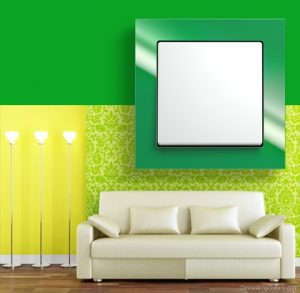 luxury viko crystal wall switches green