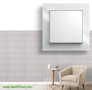 luxury viko crystal wall switches white