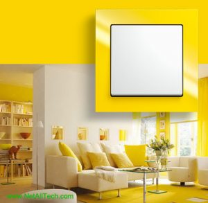 luxury viko crystal wall switches yellow