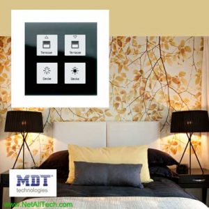 mdt knx smart touch switch crystal