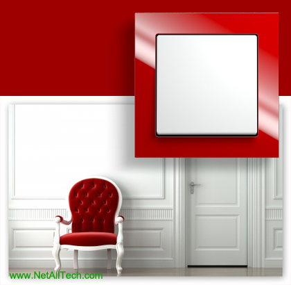 luxury viko crystal wall switches red
